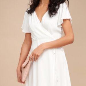 HARBOR POINT WHITE WRAP DRESS